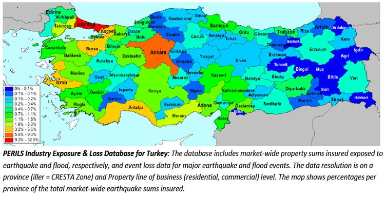 Perils starts providing industry wide catastrophe insurance data for perils collects property sums insured and event loss data from primary insurers in turkey per cresta zone and property line of business gumiabroncs Images